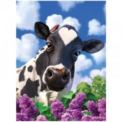 3D Poster afbeelding koe.