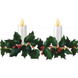 LED hulsttakken met kaarsen...