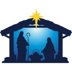 LED Kerststal met ster,...