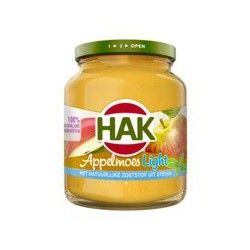 Hak Appelmoes light, 350 gram