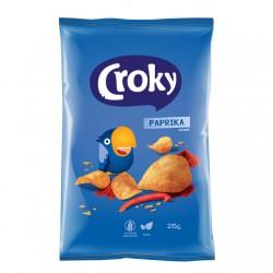 Croky Chips paprika, 215 gram